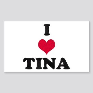 I Love Tina Rectangle Sticker